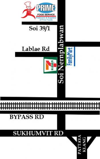 Prime Food Service Pattaya Location